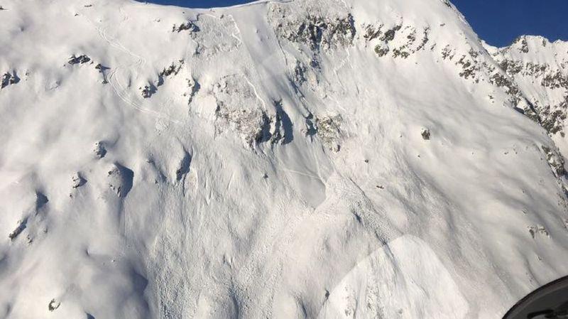 La coulée s'est déclenchée au-dessus du domaine skiable de Belalp.