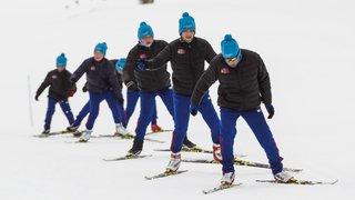 Quinze jeunes athlètes de Mongolie s'entraînent à la Vallée de Joux