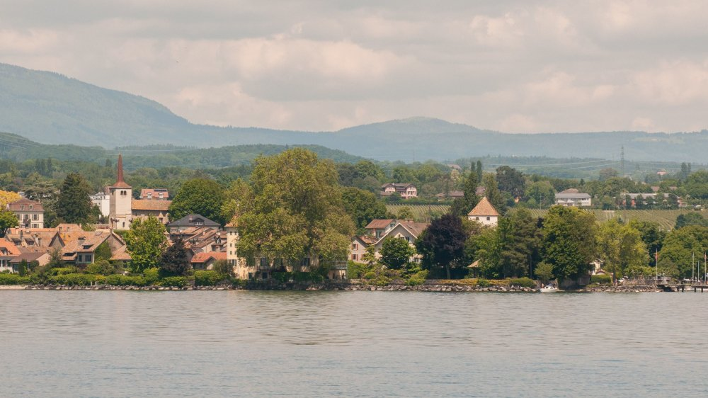 Des parcelles riveraines du lac de part et d'autre de la zone centre seront soumises à la zone réservée sur une bande de 150m de largeur.