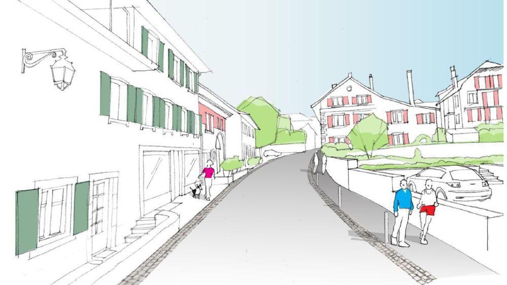 La Grand-Rue laissera davantage d'espace aux piétons et aux cyclistes également.