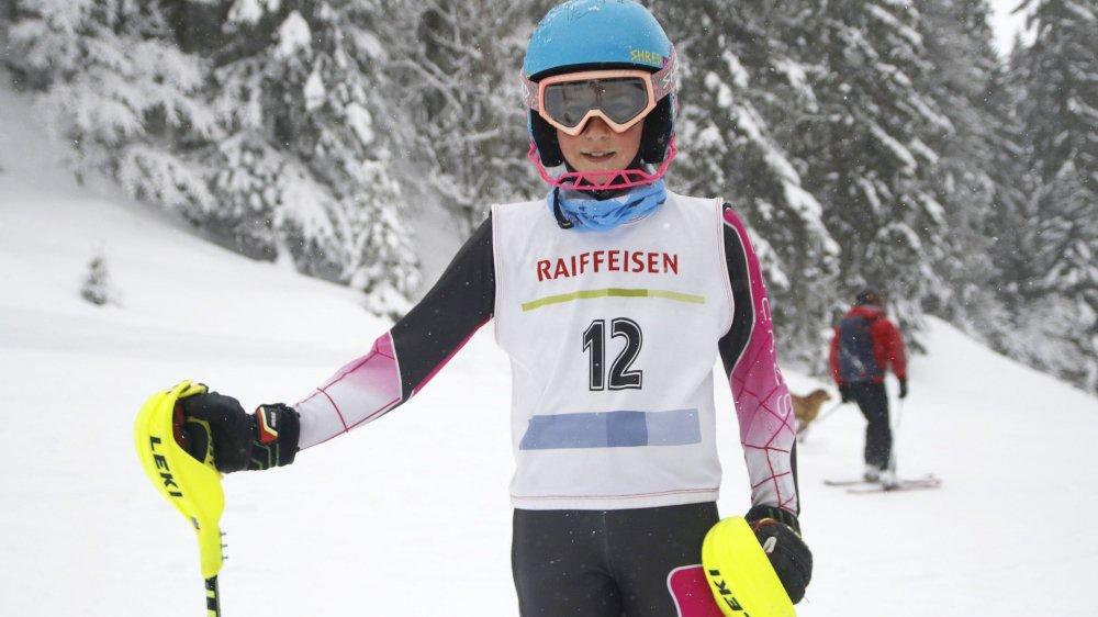 Sara Testut-G'Styr, du Ski Club de Nyon, a décroché la médaille de bronze dans la catégorie M12.