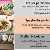 Atelier pâtisseries, bricolages et Spaghetti Party