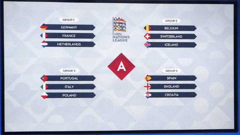 Football: la Belgique et l'Islande adversaires de la Suisse en Ligue des Nations