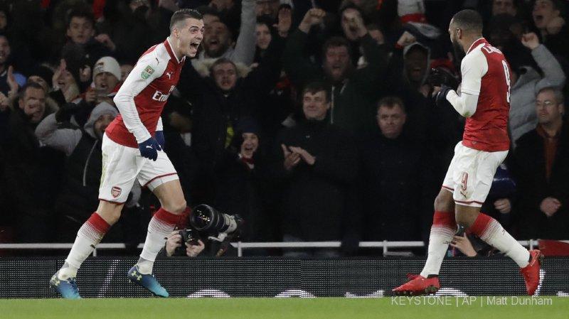 Football: Granit Xhaka marque le but qui qualifie Arsenal pour la finale de la Coupe de la Ligue
