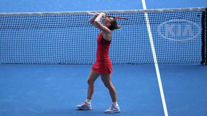 Open d'Australie: chez les femmes, la finale opposera Halep à Wozniacki