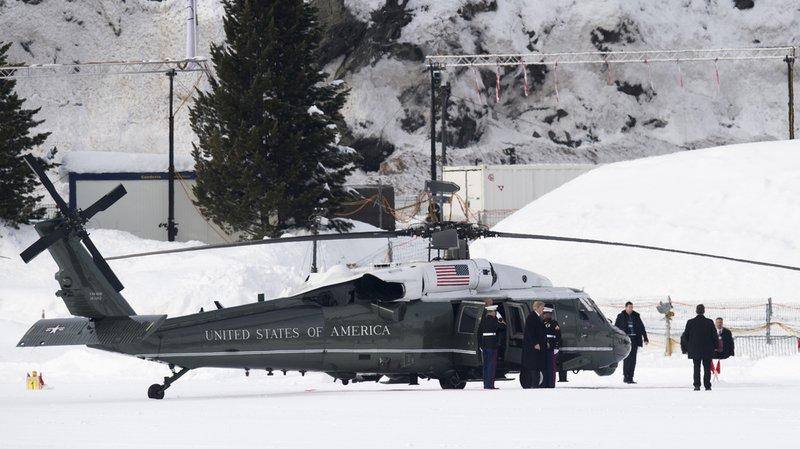 WEF 2018: Donald Trump est arrivé à Davos
