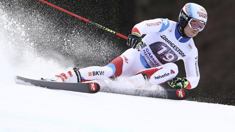 Ski alpin: Loïc Meillard pointe à la 5e place après la 1ère manche du géant de Garmisch