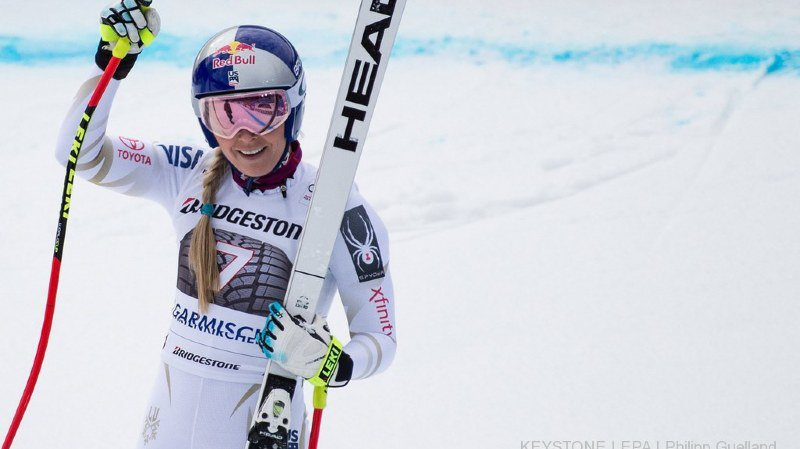 Ski alpin: Lindsey Vonn gagne encore à Garmisch, Michelle Gisin sauve l'honneur helvétique