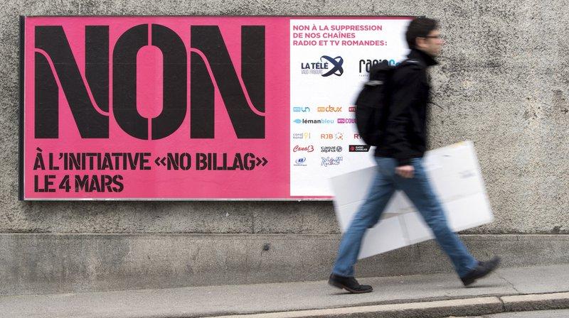 """Sondages: la tendance au rejet de l'initiative """"NoBillag"""" se renforce"""