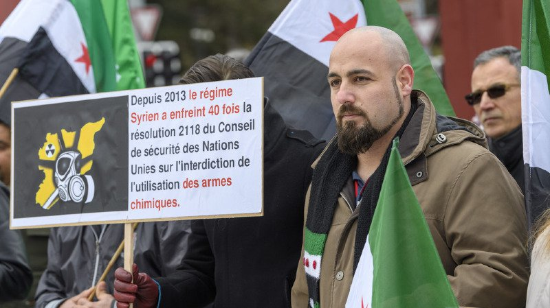Genève: manif contre l'indifférence face aux bombardements en Syrie