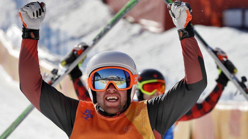 Le Canadien Leman en or — Ski cross