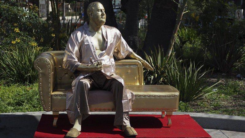 Hollywood: une statue dénonçant Harvey Weinstein fait sensation