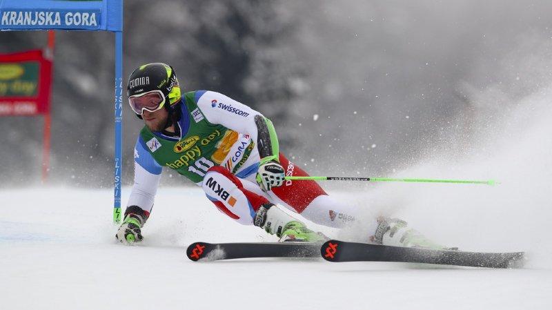 Ski alpin: Justin Murisier 9e après la première manche du géant de Kranjska Gora