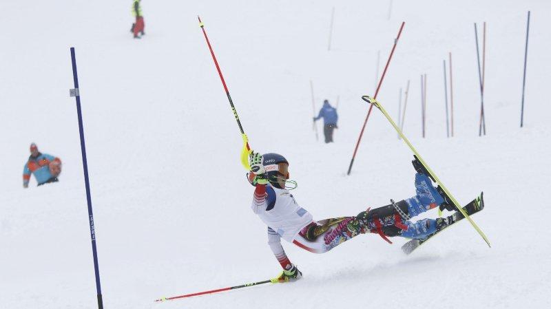 Timéo Maillard, du Ski Club de Nyon, a chuté sur la dernière porte de la première manche.