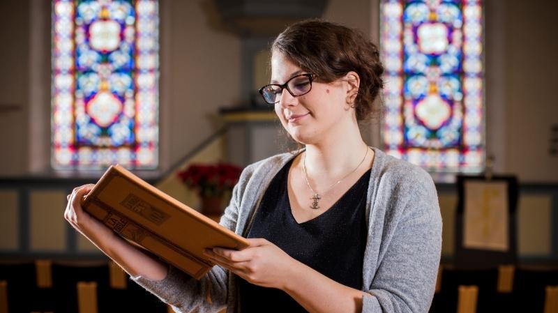 L'Eglise est rapidement devenue un lieu important pour Noriane Rapin, fille de pasteurs.