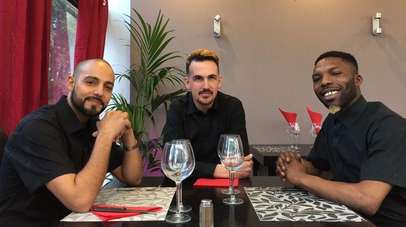 La nouvelle équipe du restaurant (de g. à d.): Malik Ibrahim, Nicolas Burki et Juste Taboudiéni.