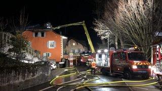 Incendie dans un immeuble d'Echandens