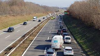 Un accident a bloqué le trafic sur l'A1, entre Coppet et Gland
