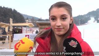 La patineuse Alexia Paganini rencontre son idole Sarah Meier