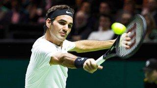 Roger Federer en finale du tournoi de Rotterdam
