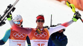 JO 2018 - Ski alpin messieurs: le Valaisan Zenhäusern décroche la médaille d'argent du slalom, Myhrer en or
