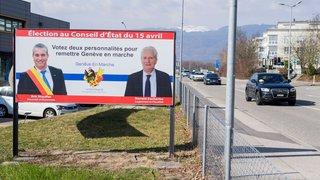 """Des affiches de """"Genève en marche"""" sur La Côte"""