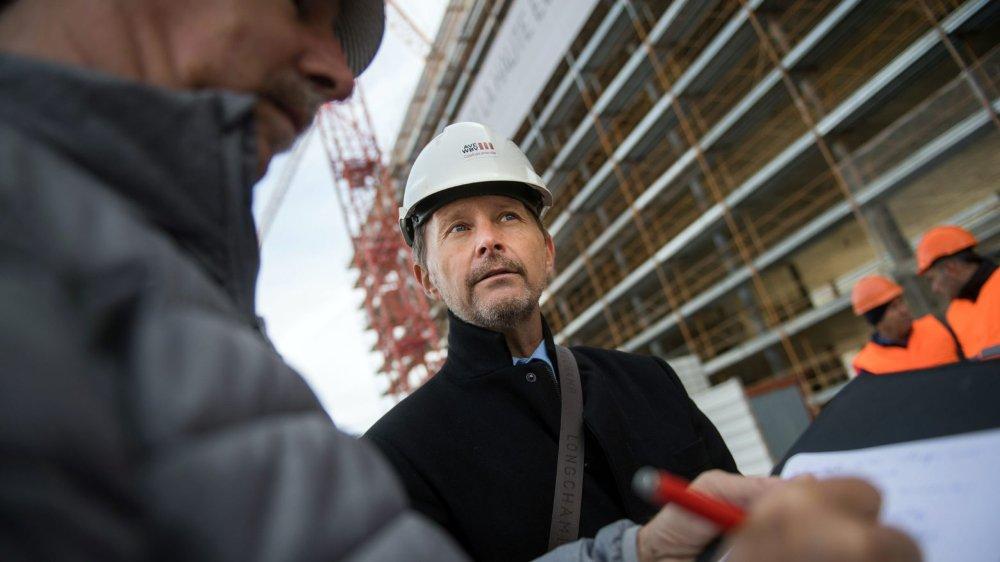 Serge Métrailler, président de l'association pour le renforcement des contrôles sur les chantiers de construction, traque le travail illégal.