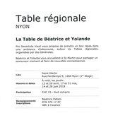Table régionale - Nyon