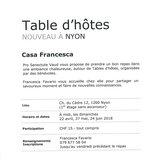 "Table d'hôtes ""Casa Francesca"" à Nyon"