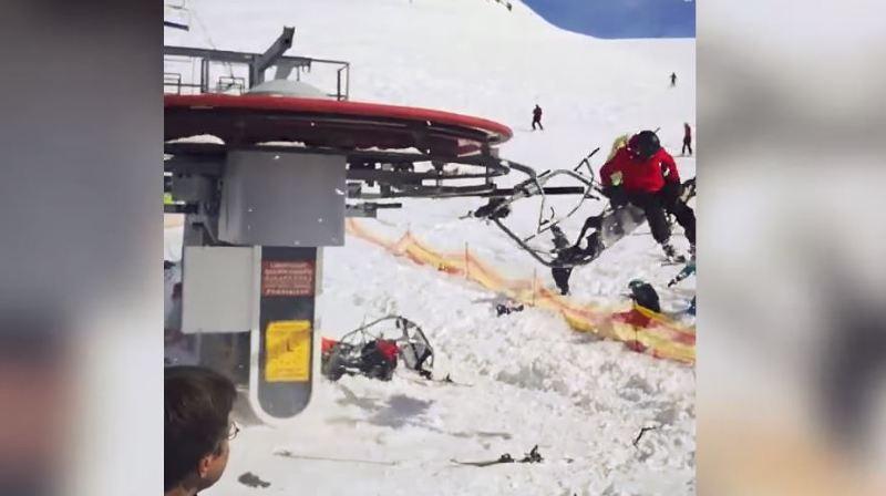 Géorgie: le télésiège déconne, des skieurs violemment éjectés