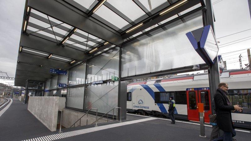 La nouvelle gare CEVA Lancy-Pont-Rouge, qui portera officiellement le nom de la commune.