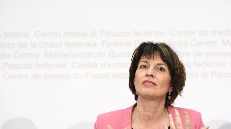 """Redevance radio-tv: suite au refus de """"No Billag"""", Leuthard prête à poursuivre la discussion"""