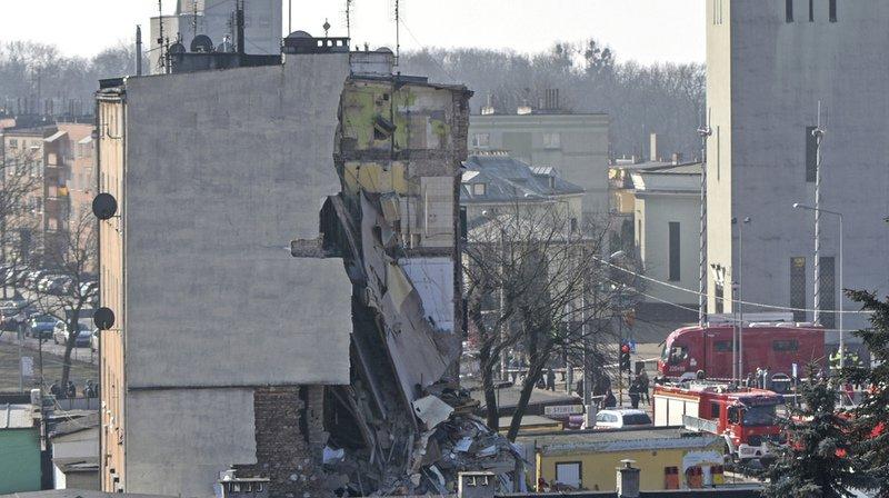 Pologne: quatre morts et 21 blessés dans l'effondrement d'un immeuble