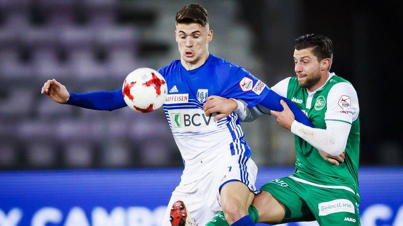 Football: le Lausanne-Sport déclassé par Saint-Gall à la Pontaise