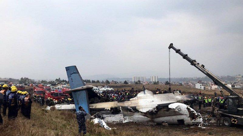 Népal: au moins 49 morts dans le crash d'un avion bangladais à Katmandou