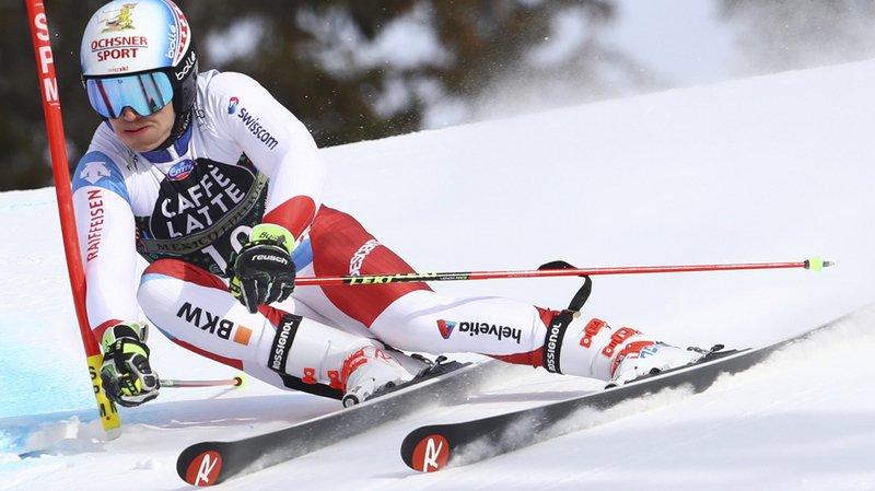 Ski alpin: Loïc Meillard en lice pour un podium en géant à Are
