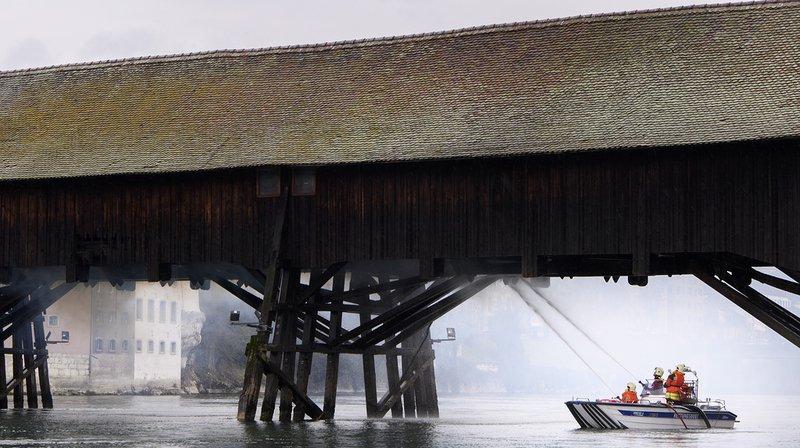 Pont historique d'Olten en feu: négligence liée au tabagisme à l'origine de l'incendie