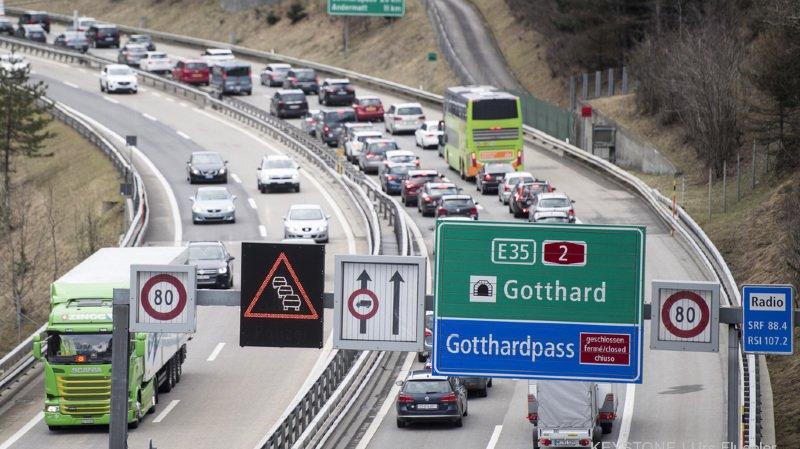Gothard: on a mesuré jusqu'à 9 km de bouchons vendredi, retour à la normale vers 18 heures