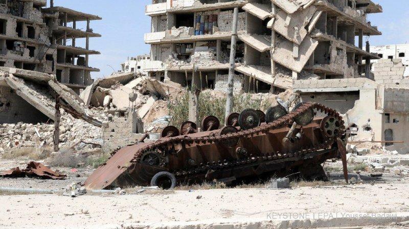 Selon la télévision de Damas, l'attaque a visé la base de Tayfur, située entre les villes de Homs et Palmyre, dans le centre du pays (archives).