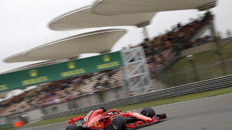 Formule 1: les Ferrari de Vettel et Raikkonen en première ligne au Grand Prix de Chine