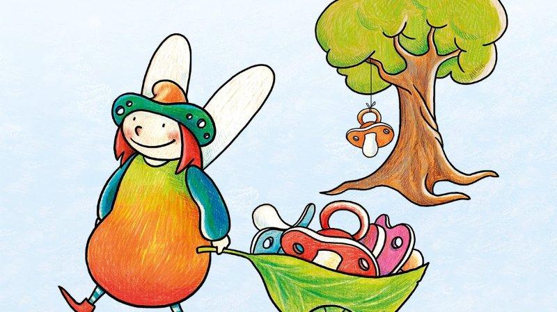 Un visuel attrayant et coloré annonce l'inauguration du 24mars. L'arbre à lolettes sera en libre accès et permanent au Signal de Bougy.