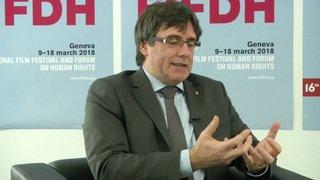 """FIDH: """"Est-ce que l'indépendance est la seule option? Pas du tout"""", répond Carles Puigdemont"""