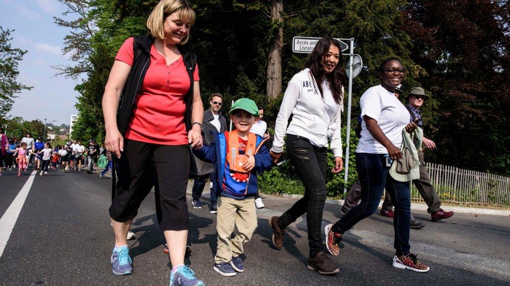 Parents et enfants ont pris part à la course conviviale.
