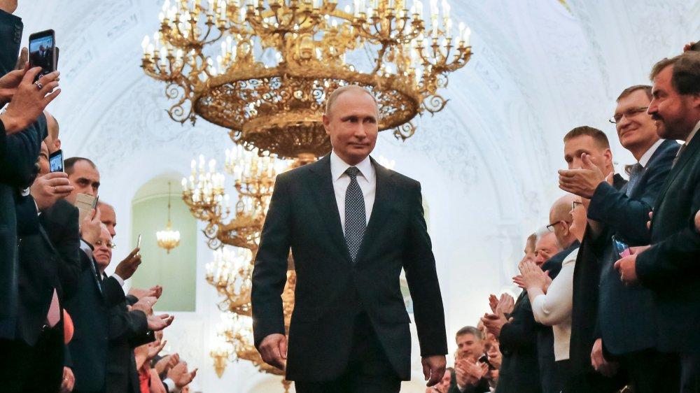 Vladimir Poutine a prêté serment lors d'une cérémonie solennelle au Kremlin.