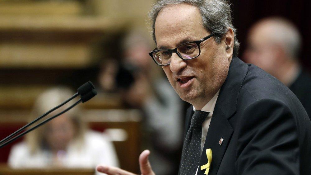 Quim Torra a notamment «profité» de l'abstention des députés du petit parti CUP pour accéder à la présidence.