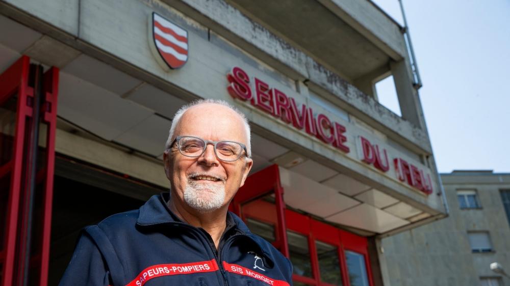 Eric Henry aura passé toute sa carrière de sapeur-pompier à la caserne morgienne.