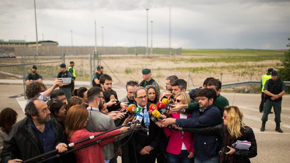 Quim Torra a rendu visite, hier, à des dirigeants indépendantistes détenus en prison et nommés au sein de son gouvernement.