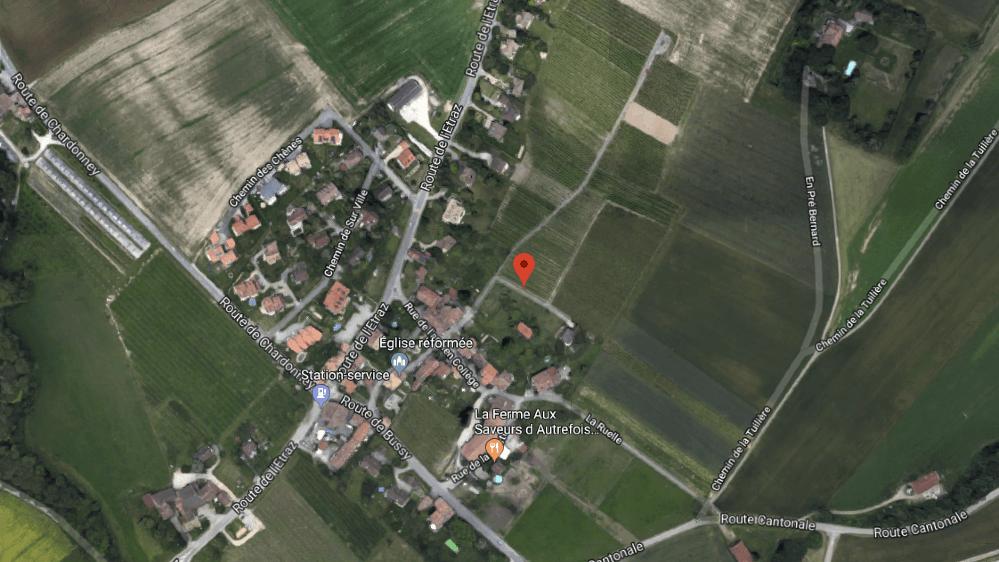 """Le projet immobilier se situe """"A la Crince"""", sur le chemin des vignes, à Bussy-Chardonney."""