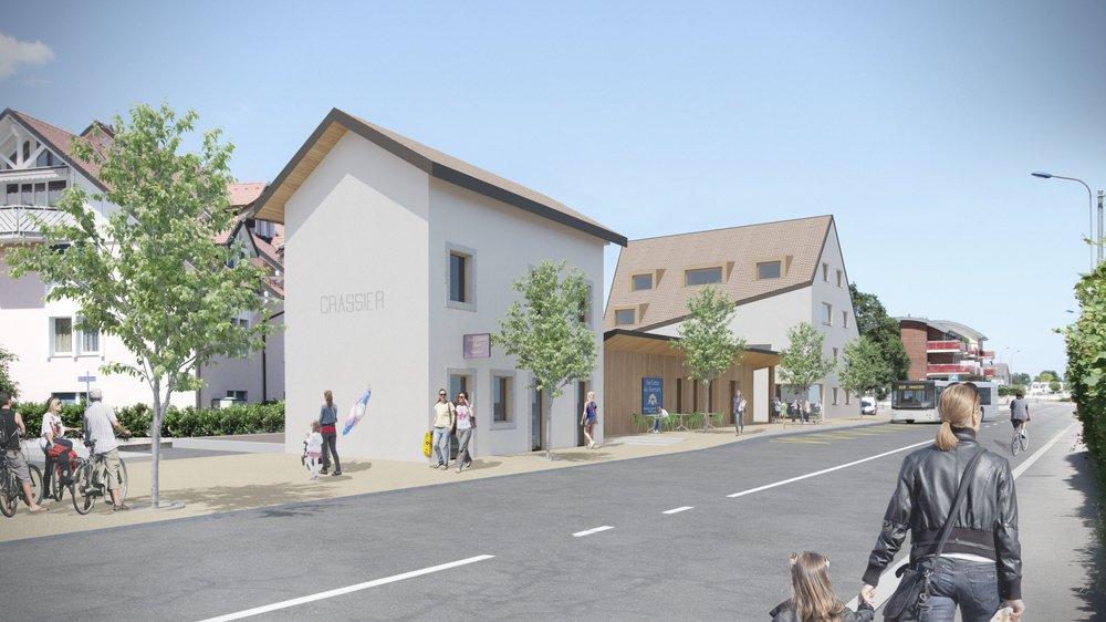 Le secteur de l'Ancienne gare comprendra des logements et des commerces.
