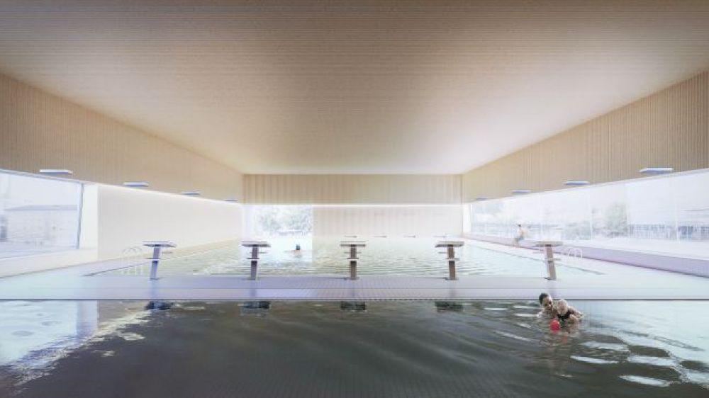 La piscine de Saint-Prex sera dotée de deux bassins, l'un de 25 mètres et l'un de 12,5 mètres.